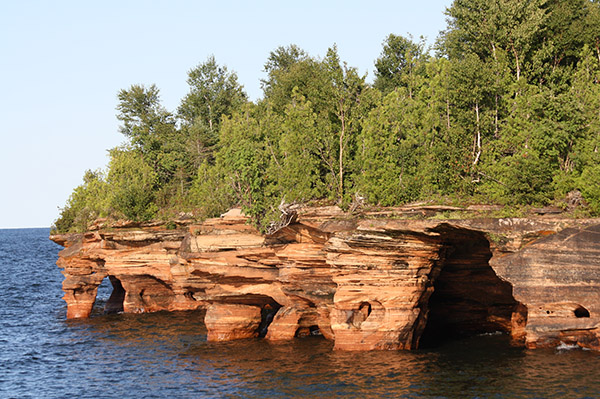 Devils Island Seacaves, Lake Superior