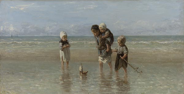 Children of the Sea, Jazef Israëls, Rijksstudio