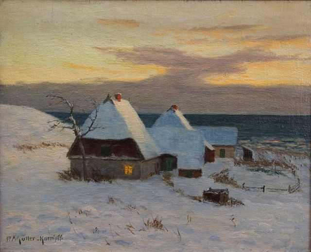 house in winter 1 Paul Muller-Kaempff