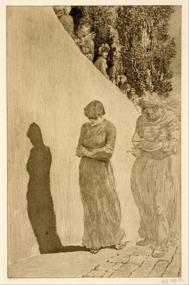 """Max Klinger, """"Shame"""" 1880/1903"""