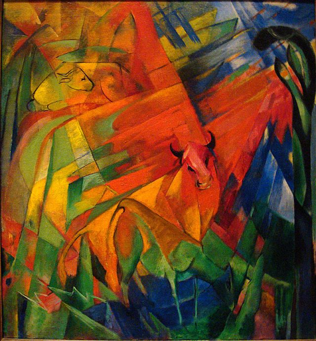 800px-Franz_Marc_1914_Animals_in_a_Landscape