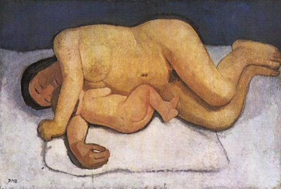 "Paula Modersohn-Becker ""Reclining Mother and Child"" (1906)"