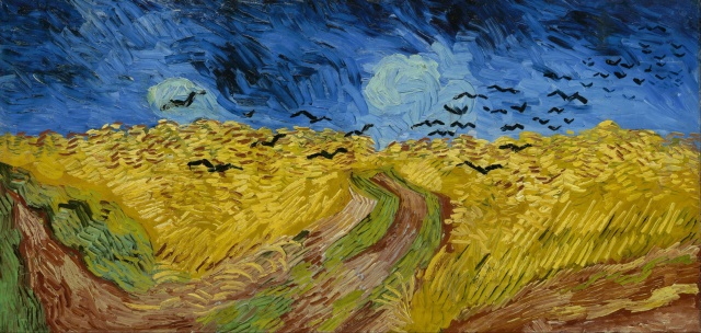 Wheatfield with Crows, 1890 van Gogh. Painted during his last weeks.