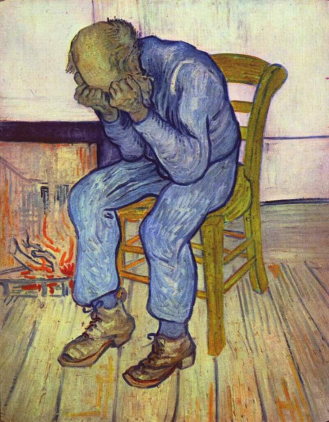 "Sorrowing old man (""At Eternity's Gate"") by Vincent van Gogh (1890)"