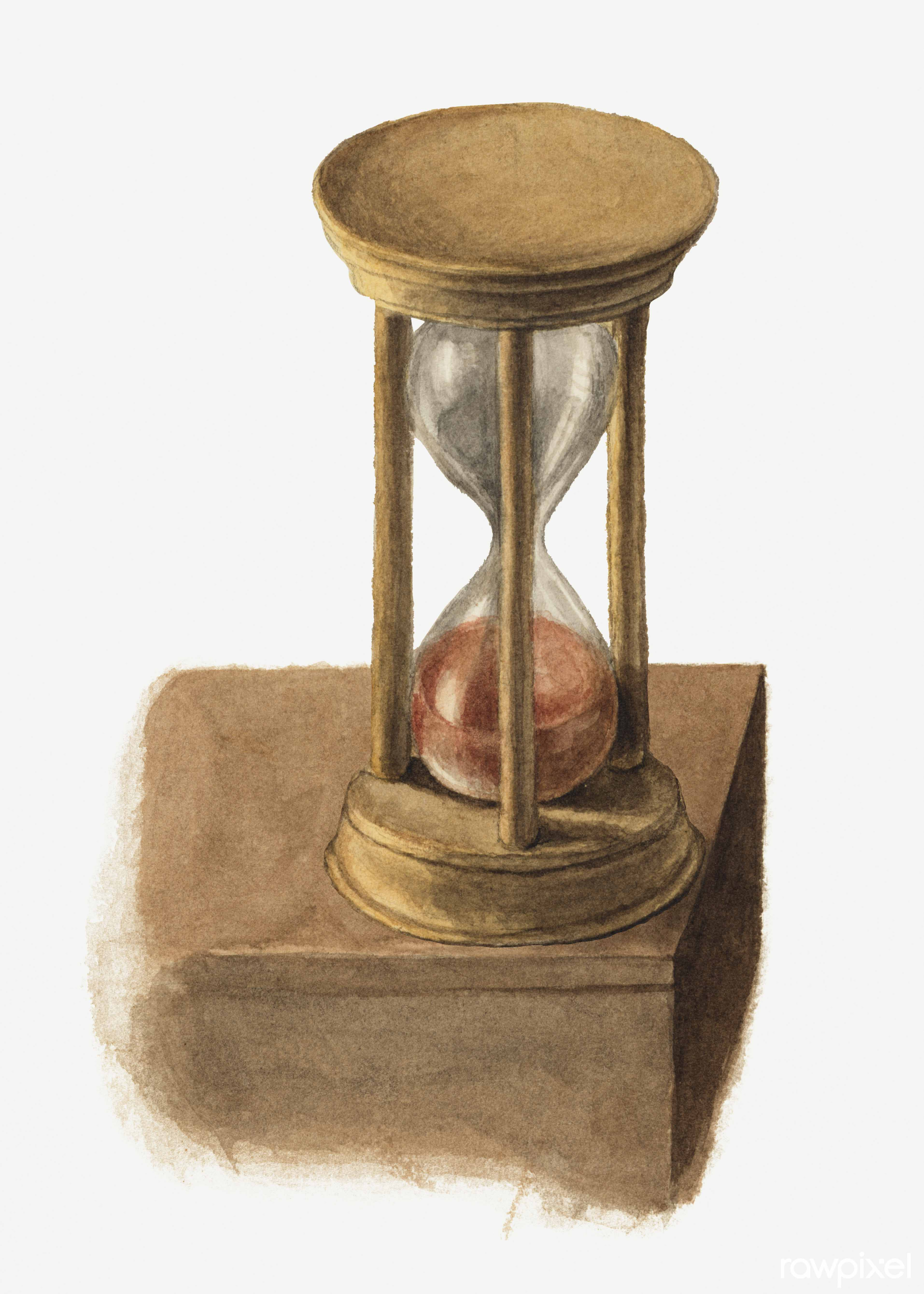 Hourglass (1872–1874) by Mary Vaux Walcott. Original from